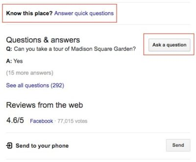 Q&A Feature on Google My Business